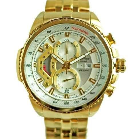 ff0297c8c0c6 Reloj Casio Edifice Dorado Ef-558fg - 7av - Sellado Original - S  329