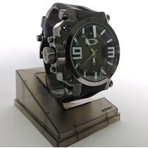 Relógio Masculino Esporte De Luxo Oakley Gearbox Preto
