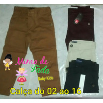 Calça Colorida Infantil Masculina Sarja
