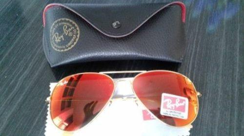 Óculos Ray Ban Top Aviador Rb 3026 Espelhado Vermelho - R  219,99 em ... b1e4ae2ef7