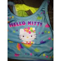 Traje De Baño2 Piezas Hello Kitty Talla12-18meses