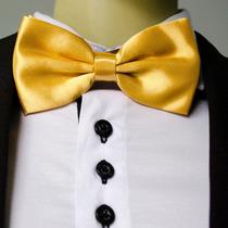 Gravata Borboleta Dourada Adulto