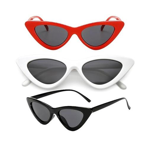 89a474e4b351a Óculos De Sol Retrô Gatinho Proteção Uv - R  27
