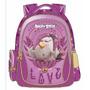 Mochila Escolar Infantil De Costas Angry Birds Menina Lilás