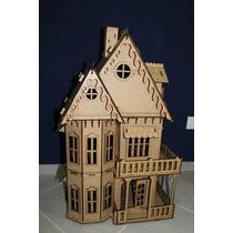 Casa Casinha De Boneca Mdf Polly- 46 Moveis