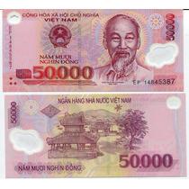 Vietnam Billete De 50.000 Dong Año 2014 S/circular Polímero