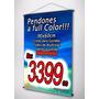 Pendones A Full Color Con Tubos - 60x90cm - Listos En Banner