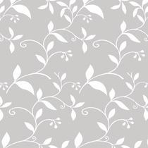Papel De Parede Folhas Em Branco Sobre Cinzaadesivo Contact