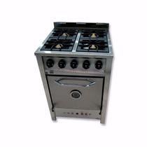 Cocina Industrial Gastroequip 4 Hornallas 58 Cm Acero Inox