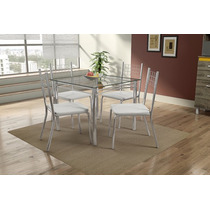 Conjunto De Mesa Isadora Com 4 Cadeiras | Mobisul