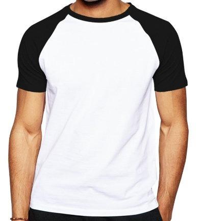 Camiseta Raglan Manga Curta Camisa 2 Cores Algodão 10 Peças - R  174 ... 6ff66ecdd20d3