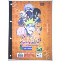 Bloco De Fichario Naruto Caderno Uniflex Universitario 96 Fl