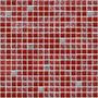 Malla - Mosaico - Venecitas De Vidrio 30x30 - Crac Rojo