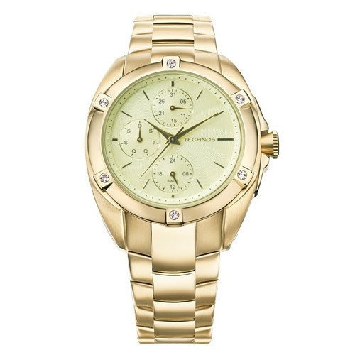 542448497d5 Relógio Technos 6p27dk 4x (aço Inox