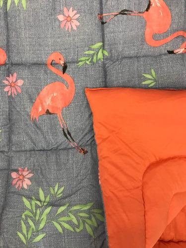 bcdbb4dec Edredom De Casal Queen Flamingo