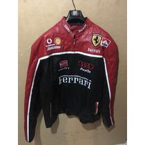 Chamarra Piel Ferrari Talla 56 Logos