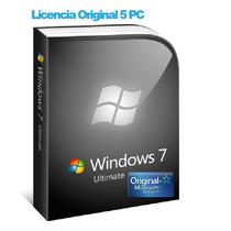 Windows 7 Ultimate Licencia Original 5 Pc 32/64 Bit