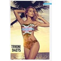 Traje De Baño Trikini Talla M Ultima Moda Importado 2016