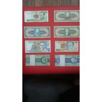 Coleção De 8 Cédulas Do Dinheiro Antigo Brasileiro