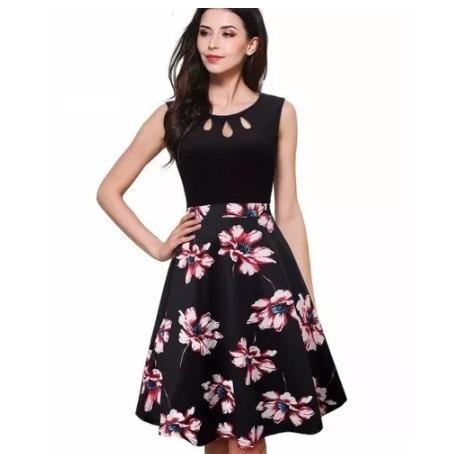 36d249581 Vestido Flores Feminino Festa Médio Casual Luxo Floral - R  169