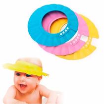 Gorro Visera Sombrero De Baño Protector Ducha Niños Bebes
