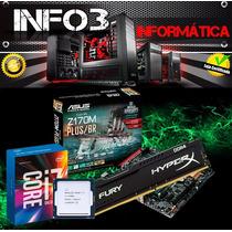 Kit Asus Z170m-plus Core I7 6700k Memória 8gb Ddr4 Oferta!!!