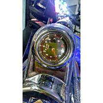 Coluna Kit Monometro Cromada Type R Tuning Led Vermelho