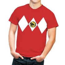Playera Hombre Con Diseño Power Ranger Red Varias Tallas