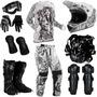 Kit Equipamento Pro Tork Jett Tattooed Piloto Motocross