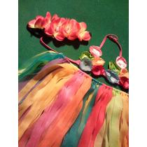 Pollera Hawaiana Para Nenas, Disfraz Hawaiana ! Original