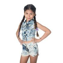 Shorts De Jeans Para Niñas Modelo 1-precios De ...