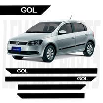 Friso Lateral Volks Gol G5 G6 2010/2015 4p Tipo Borrachão #