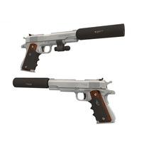 Pistola Escuadra Colt M19 + Silenciador Para Armar En Papel