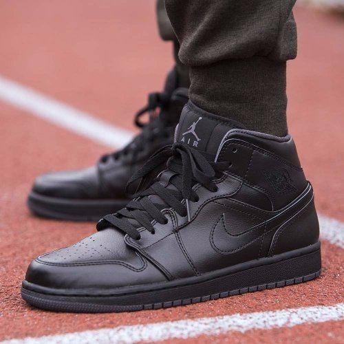a93b0c648441 Nike Air Jordan Retro 1 Mid Triple Black -   4.199