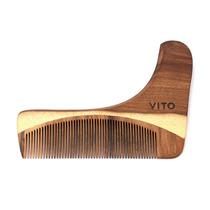 Alinhador E Pente Para Barba De Madeira - Vito
