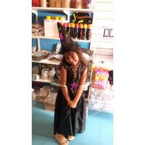 Disfraz Hada Negra Bruja Vestido Gorro 5 A 7 Años Halloween