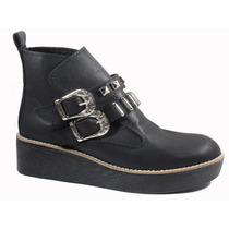 Borcego Mujer Plataforma Zapato Hebillas Tacha Invierno 8081
