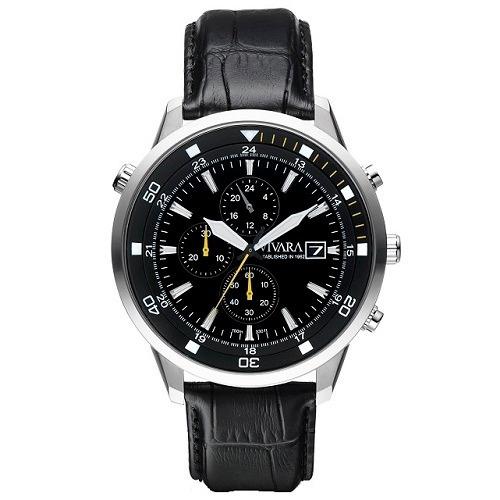 e69d91ffa37 Relógio Vivara Masculino Couro Preto - Ds12717a