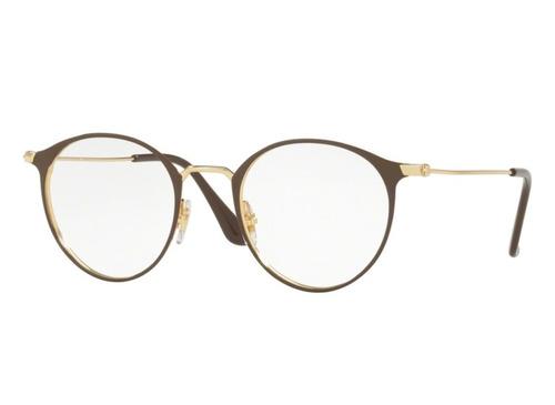 070d3d24401d7 Óculos De Grau Ray Ban Redondo Original Rb6378 2905 Tam. 49 - R  499 ...