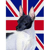 Terrier De Rata Con Inglés Union Jack Británica Bandera De