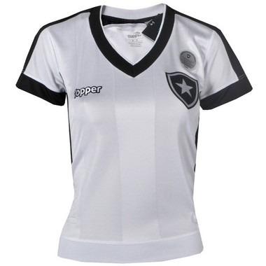 Camisa Botafogo Jogo Iii Feminina Sem Número 2017 Topper - R  249 048e4349f7573