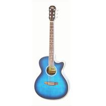 Guitarra Acustica Con Corte Fet-01fx Azul