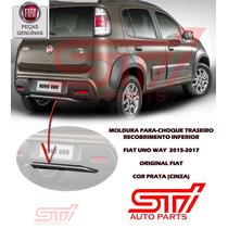 Moldura Acabamento Para-choque Fiat Uno Way 2015-2017 Friso