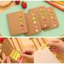 Adesivo Colorido 5 Cor Para Marcar Caderno/livro- 100 Folhas