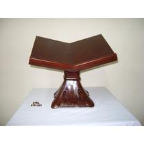 Atril Porta Biblia De Madera De Caoba Tallados A Mano