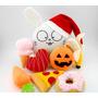 Calabaza Halloween y Bordado 1-15 letras