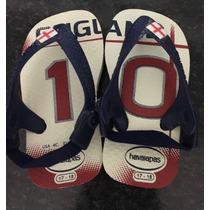 Havaianas Baby Seleção Inglaterra 17/18 **nunca Usada**