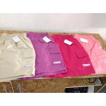 Shorts Feminino Elastico Cintura Algodao Colorido