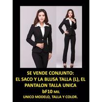 Conjunto De Chaqueta Y Pantalón De Vestir Economico