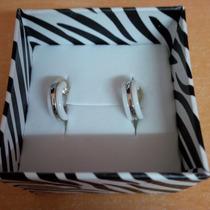 Arracadas Ceramica Y Oro Blanco 14k
